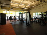 Weight room.